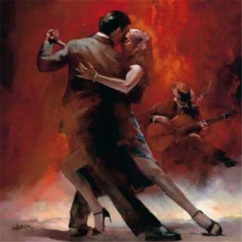 Tango Argentino II Poster Print by Willem Haenraets, 24 x 24 - Large
