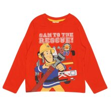 Official Fireman Sam Long Sleeve T-Shirt - To The Rescue - Boys Girls
