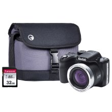 Kodak PIXPRO AZ422 20MP 42x Zoom Black Camera Kit inc 32GB SDHC Card & Case