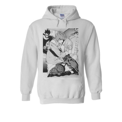 Death Note Light Misa Anime Manga White Men Women Unisex Hooded Sweatshirt Hoodie