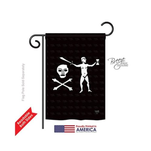 Breeze Decor 57041 Pirate Walter Kennedy 2-Sided Impression Garden Flag - 13 x 18.5 in.