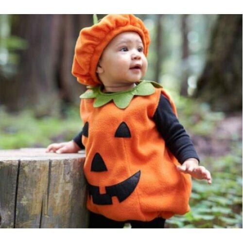 (Size: M) Halloween Kid Costume  Pumpkin