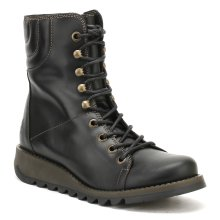 Fly London Womens Black Same109Fly Rug Leather Boots