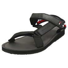 Tommy Hilfiger Strappy Corporate Mens Walking Sandals in Black