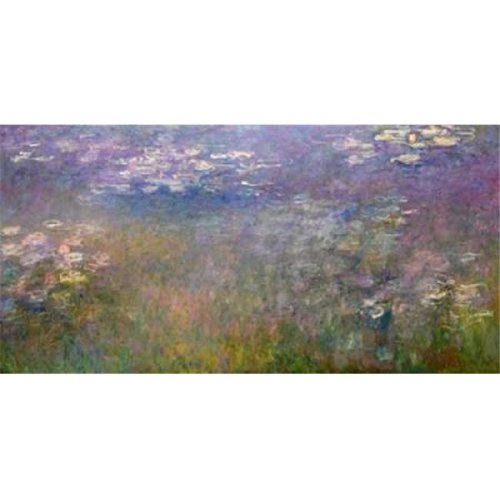 Water Lilies Poster Print by Claude Monet, 24 x 48 - Large