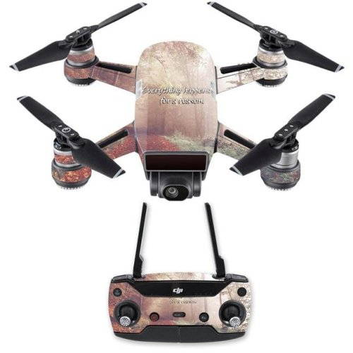 MightySkins DJSPCMB-Happens for A Reason Skin Decal for DJI Spark Mini Drone Combo - Happens for A Reason