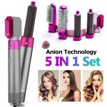 5-In-1 Hot Air Brush Hair Curler Set