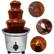 3 Tier Cascade Chocolate Fountain Fondue Stainless Steel