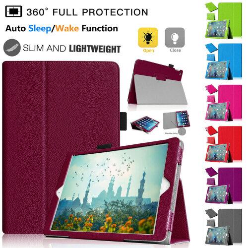 "Flip Folio Folding Stand Case for iPad 4th Generation (2012 ), iPad 3rd Generation (2012), iPad 2 (2011) 9.7 "" with Auto Sleep Wake"