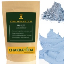 Serbian Blue Clay, Best for Skin, 100% Natural, 100g by ChakraVeda