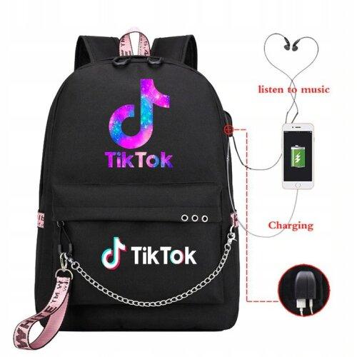 (Galaxy Theme) TikTok Backpack   School Rucksack
