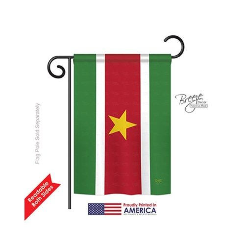 Breeze Decor 58253 Suriname 2-Sided Impression Garden Flag - 13 x 18.5 in.