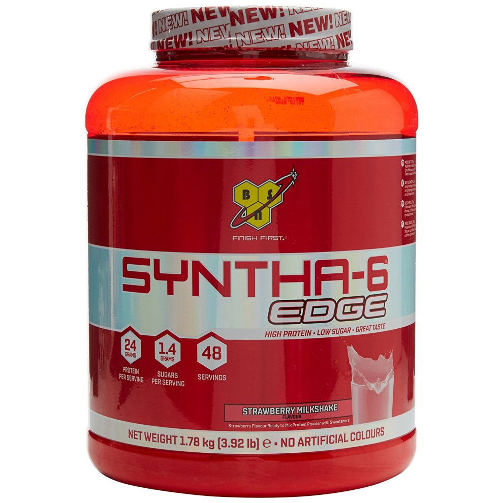 (48 Servings, Strawberry Milkshake) BSN Syntha-6 Edge Protein Powder