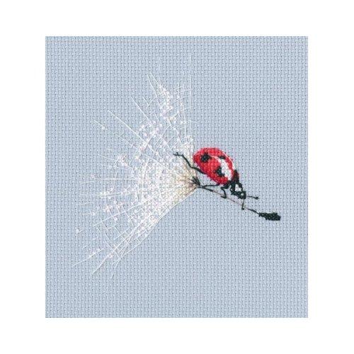 RTO Counted Cross Stitch Kit -  On the Dandelion's Parachute - Ladybird