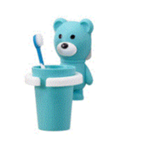 2PCSCreative Cartoon Animal Plastic Toothbrush Holder With Cup Cute Children Bathroom Sets Family Tooth Brush Holder Wall