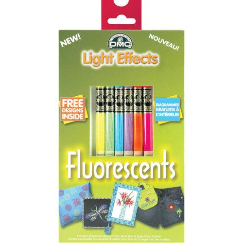 DMC Light Effects Floss Pack 8.7yd 6/Pkg-Fluorescent