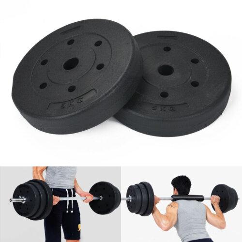 (5kgx4 = 20kg ) Weight Plates Set Vinyl Standard Gym Barbell