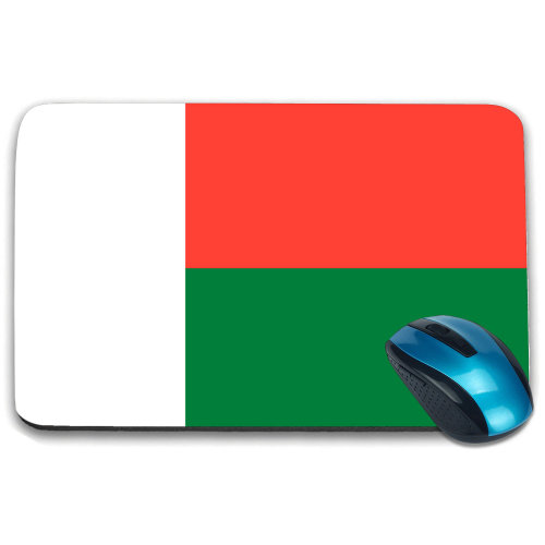 i-Tronixs - Madagascar Flag Printed Design Non-Slip Rectangular Mouse Mat for Office / Home / Gaming - 0103