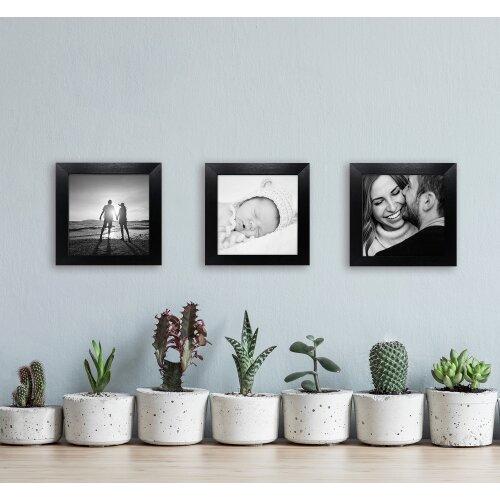 """4x4""""/ 10x10cm Oxford Black Square Instagram Photo Frame - Glass Window"""