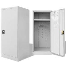 vidaXL Saddle Cabinet 60x60x140cm Steel Horse Tack Shelves Locker Storage