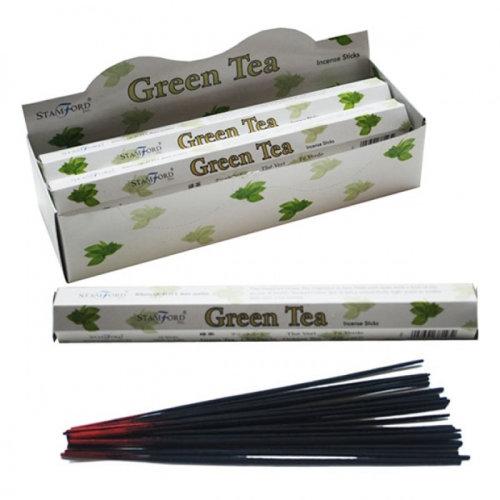 Stamford Hex Incense Sticks - Green Tea - Set of 6