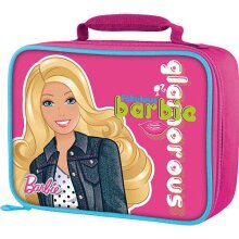 Thermos Barbie glamorous glitter Insulated Pink Lunch Bag