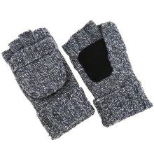 Wool Blend Winter Warm Gloves Fingerless Knitted Mittens For Men Women