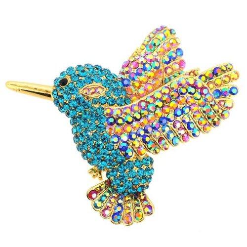 Fantasyard Multicolor Motorcycle Crystal Pin Brooch