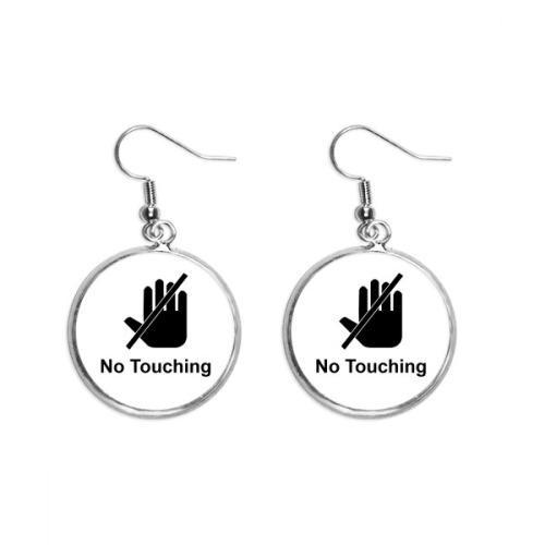 Warning Symbol Cartoon Pattern Ear Dangle Silver Drop Earring Jewelry Woman