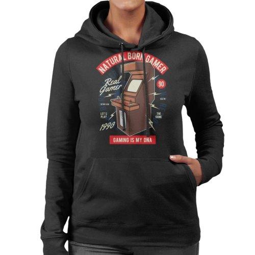 (X-Large) Natural Born Gamer Women's Hooded Sweatshirt