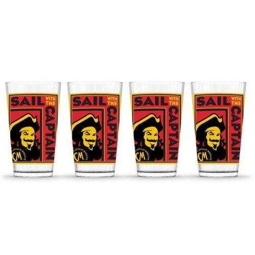 Captain Morgan 888568622656 Poster Pint Glass - Pack of 4