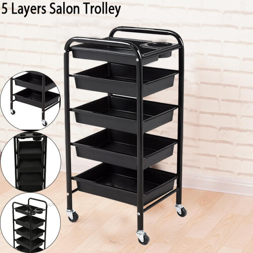 Salon Trolley Drawers 5 Tiers Colouring CarHairdresser Barber Beauty