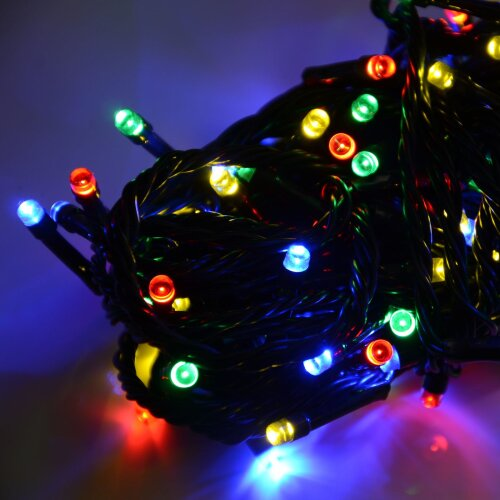Chasing Christmas Lights 100 Multi Colour LED Indoor / Outdoor Battery Operated