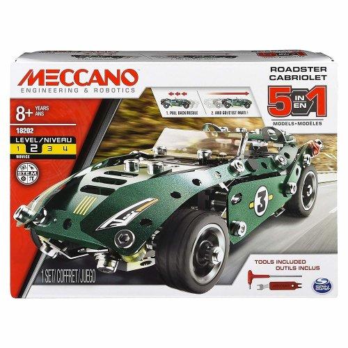 Meccano Roadster Cabriolet | 5 in 1 Meccano Car Set