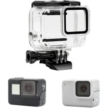 Waterproof Protective Housing Dive Case for GoPro Hero 7 Silver/White model Action Camera, Silicone Underwater Protection Cage Cover Accessories