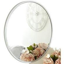 Luxury 50cm Round Silver Mirror Home Décor
