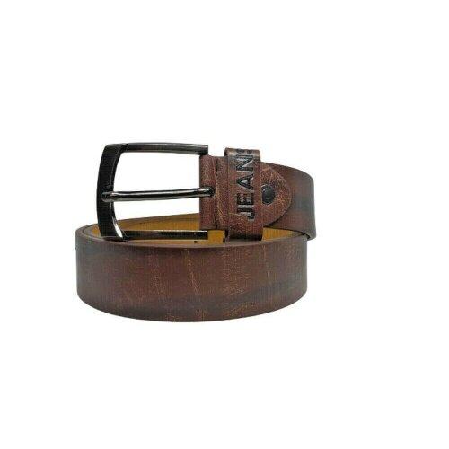 Men's Leather Belt Jeans Trousers Adjustable Big Size Belts Designer Belt BROWN