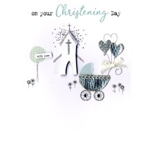 On Your Christening Day Irresistible Greeting Card Embellished Cards
