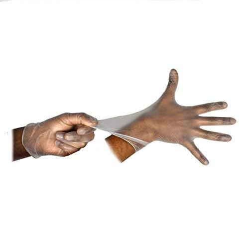 Clear Vinyl Powder Free Gloves   Pack of 100   Latex Free   Medium Size (Clear Medium)