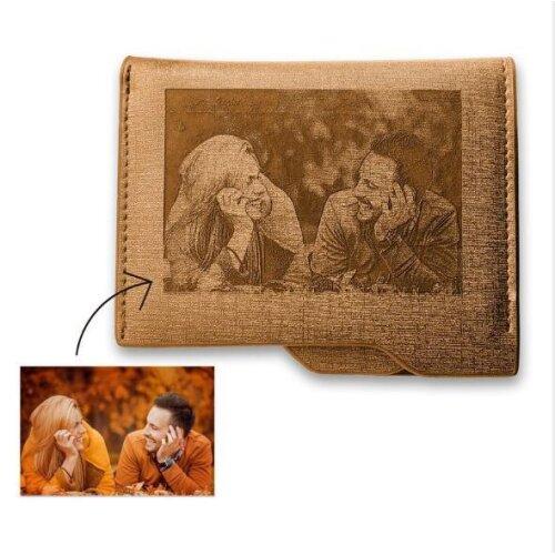 (Brown A) Wallet Customized Wallet For Men Design Wallet