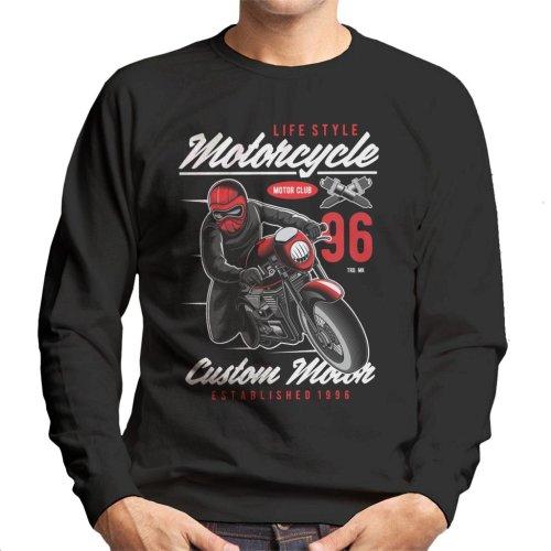 (Medium) Motorcyle Lifestyle Custom Motor Men's Sweatshirt