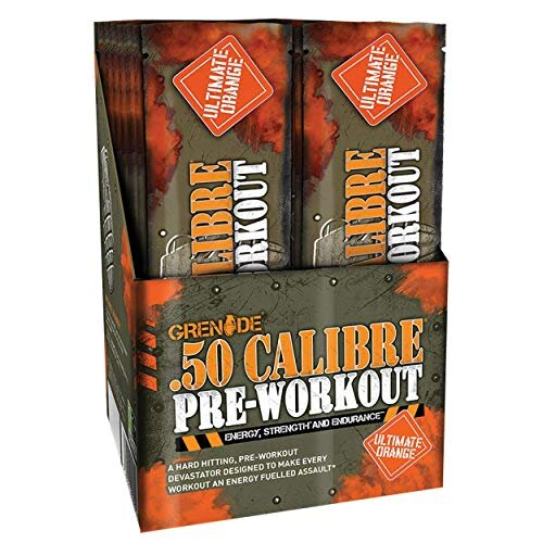 Grenade 50 Calibre Pre-Workout Devastation Sachets - Ultimate Orange, 50 Servings (25 Sachets, 2 Servings per Sachet)
