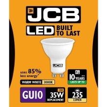 JCB LED GU10 3w Light Bulb Cap 235lm 3000k Warm White
