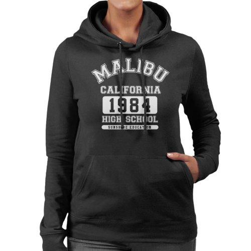 (Large, Black) Malibu High School Women's Hooded Sweatshirt