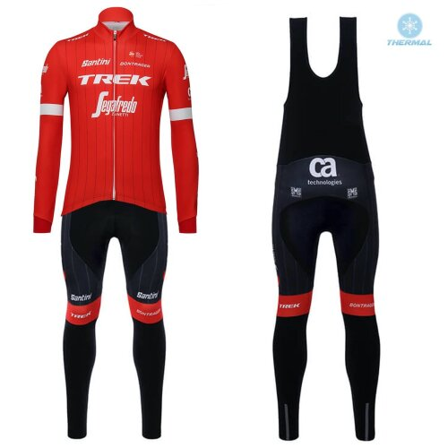 More Views  2018 Trek Segafredo Red Thermal Cycling Jersey And Bib Pants Set