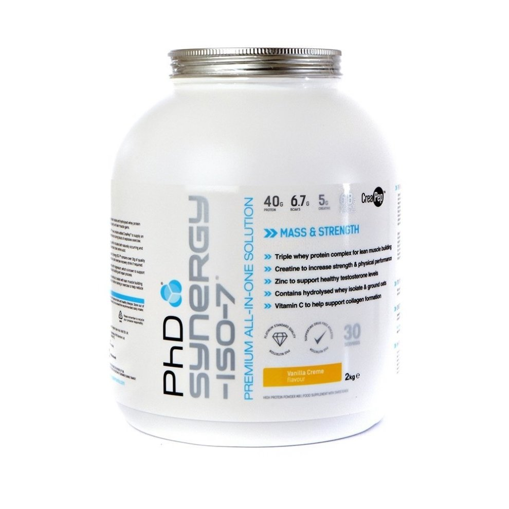 (Vanilla Cr?me, 2kg) Phd Nutrition Synergy Iso-7