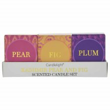 Set Of 3 Kashmir Scented Candles - Pear Fig and Plum