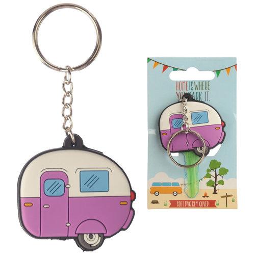 Novelty PVC Keyring - Caravan Key Cover