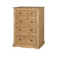 Corona 4 Drawer Chest Solid Pine Bedroom Furniture