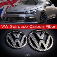 MODIFIX   VW SCIROCCO CARBON FRONT & REAR EMBLEM BADGE R LINE GTD GTI REPLACEMENT